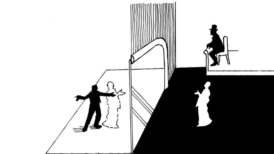 Схема сцены, позволяющая создать эффект «призрака» / Иллюстрация из книги «Исчезающий слон»