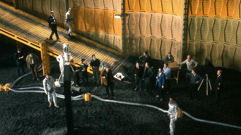 На съемках фильма «2001 год: Космическая одиссея»