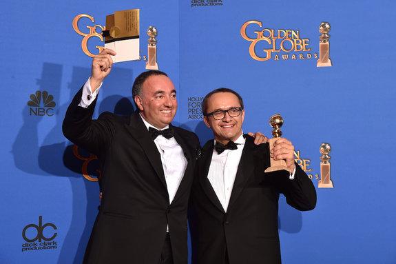 С Андреем Звягинцевым после церемонии вручения наград «Золотой глобус»