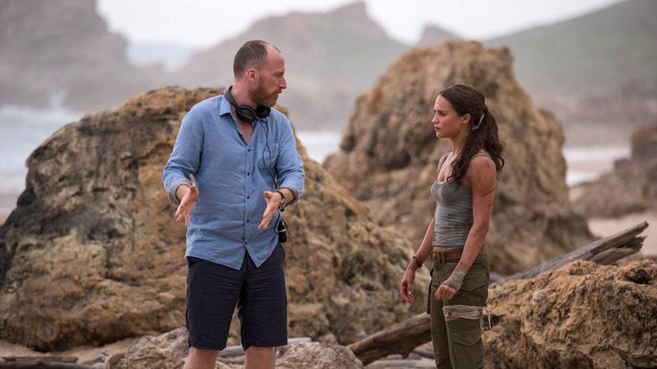 На съемках фильма «Tomb Raider: Лара Крофт»