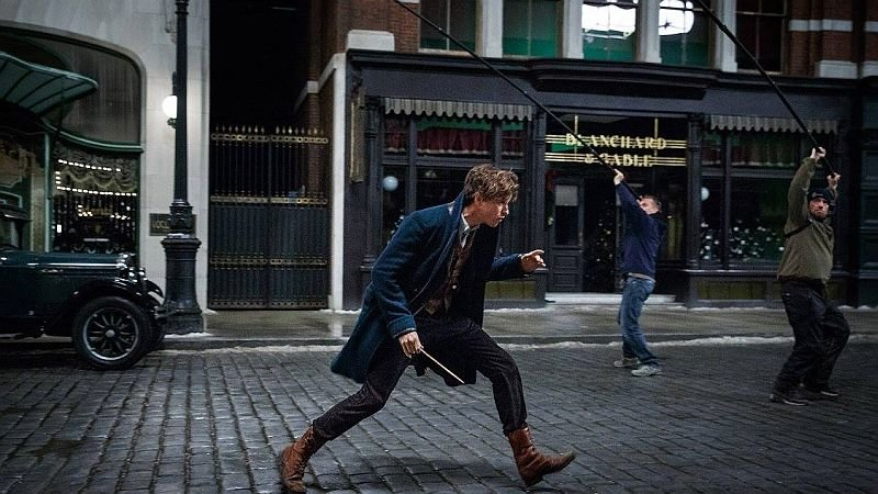 На съемках фильма «Фантастические твари и где они обитают» / Фото: Warner Bros.
