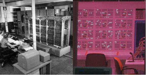 MANIAC в Сан-Аламо и машина GRTA в сериале / Фото: сайт http://www.computerhistory.org и Netflix