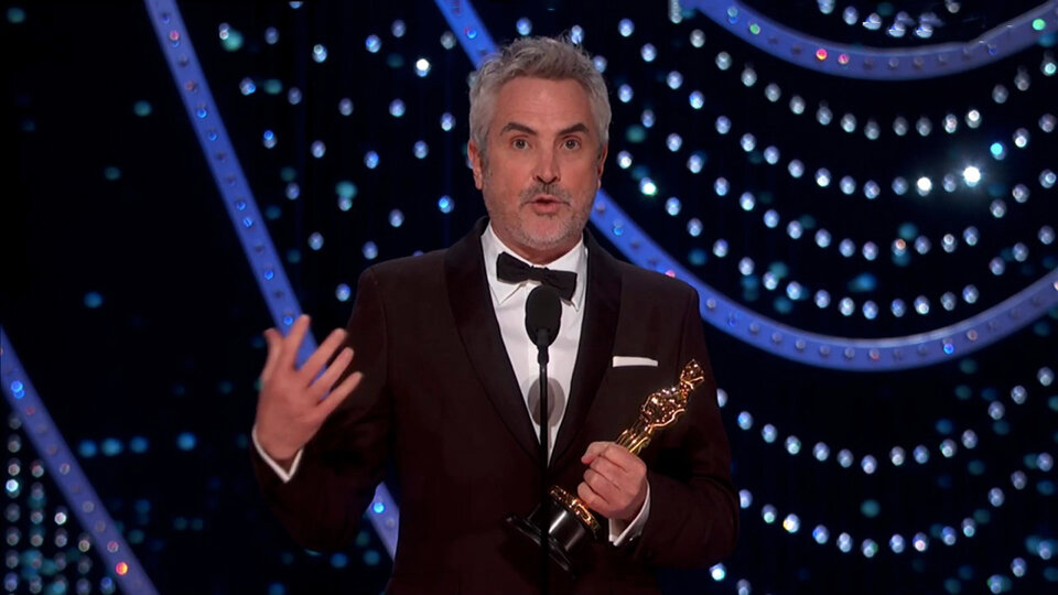 Альфонсо Куарон на церемонии «Оскара-2019»