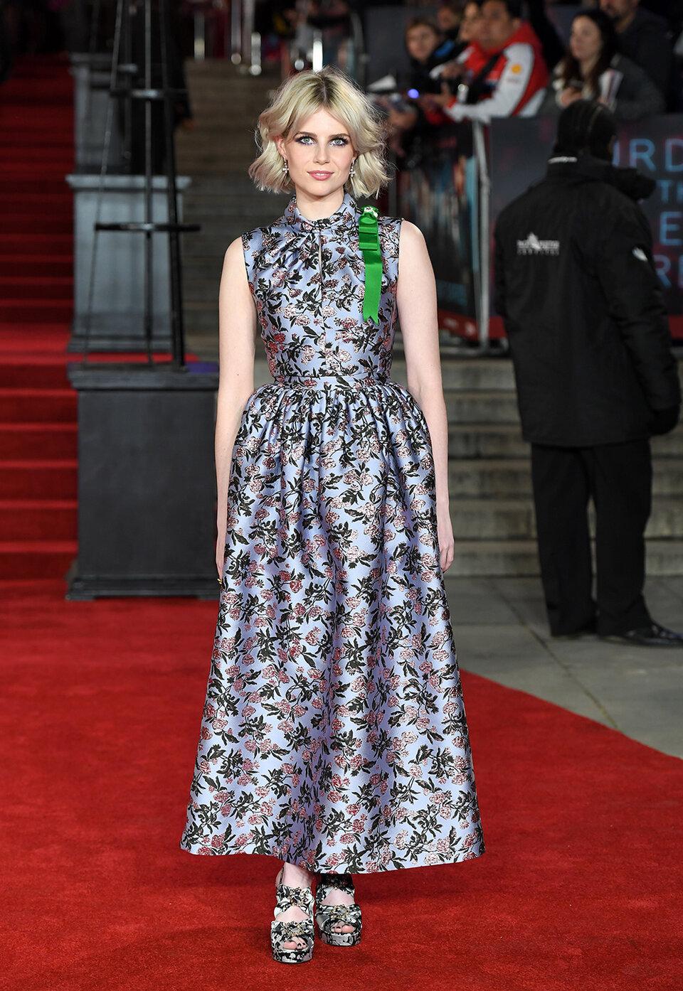 Люси Бойнтон на премьере фильма «Убийство в Восточном экспрессе» в Лондоне / Фото: Getty Images