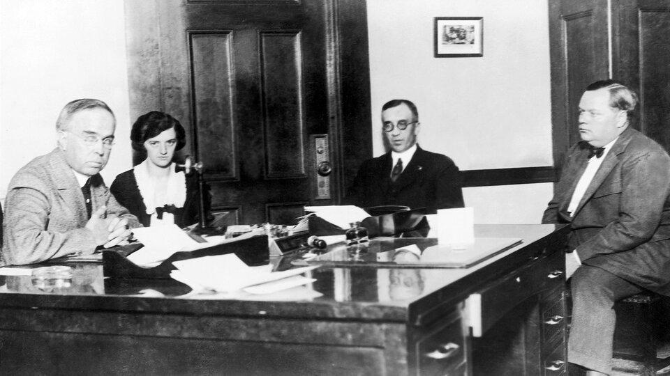Арбакль в процессе дознания по делу об убийстве Рапп, 1921