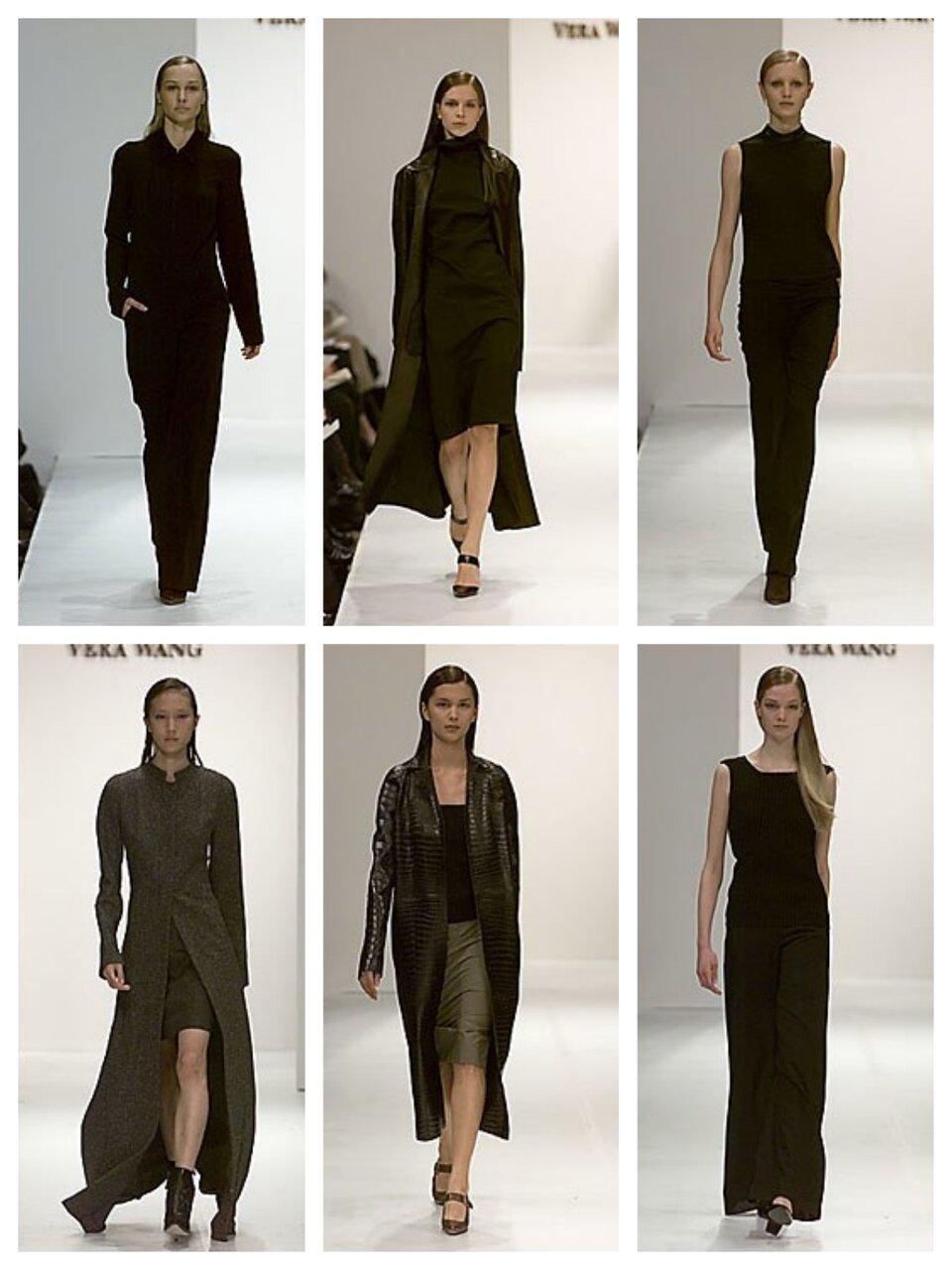Показ коллекции Vera Wang осень-зима 2000