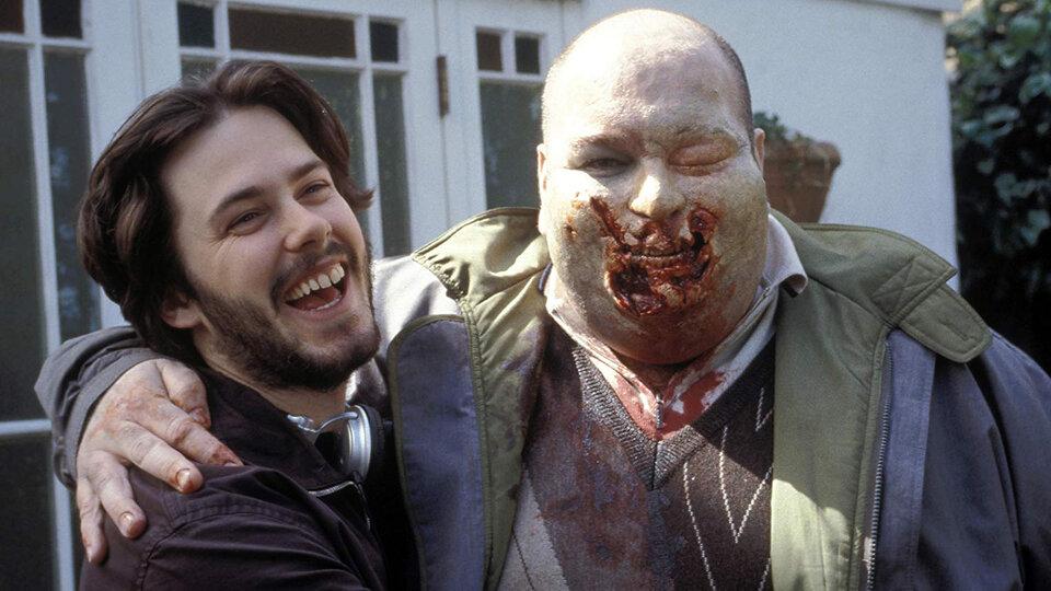 Эдгар Райт на съемках фильма «Зомби по имени Шон»