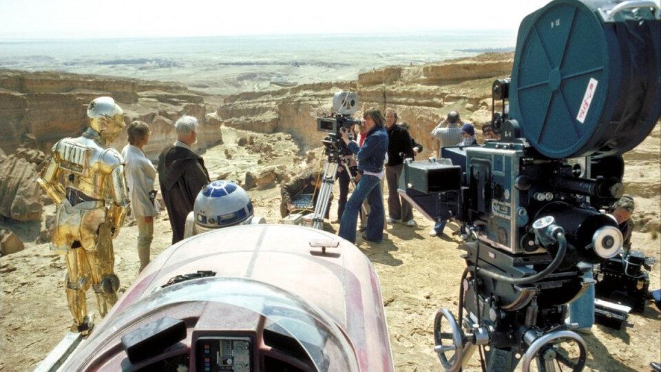 На съемках фильма «Звездные войны: Эпизод 4 — Новая надежда»