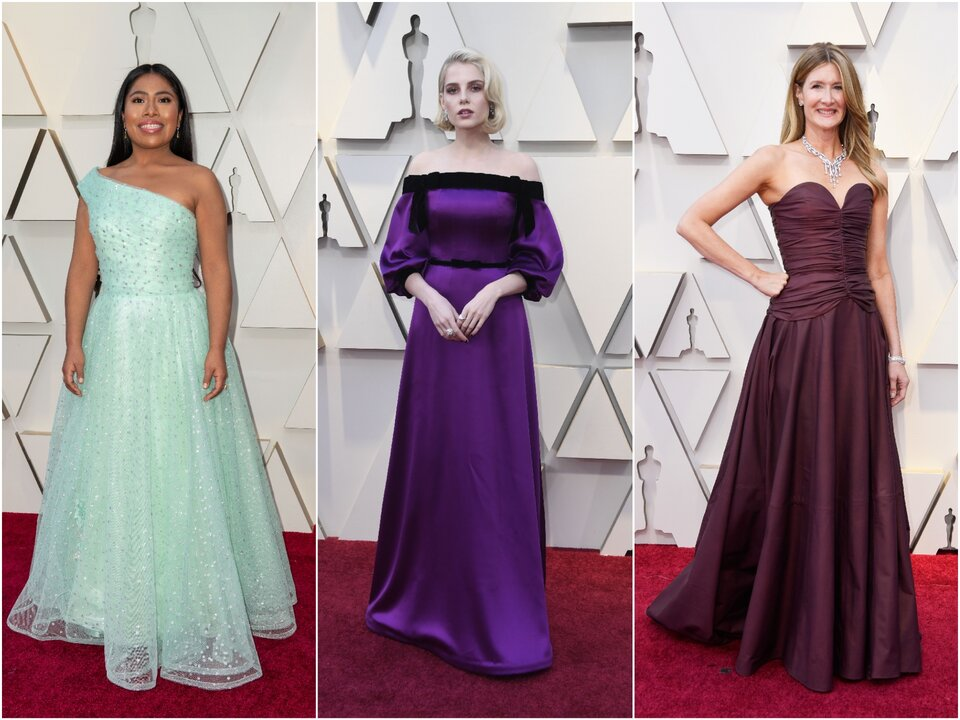 Ялица Апарисио, Люси Бойнтон и Лора Дерн на «Оскаре-2019»/ Фото: Getty Images, ©A.M.P.A.S.