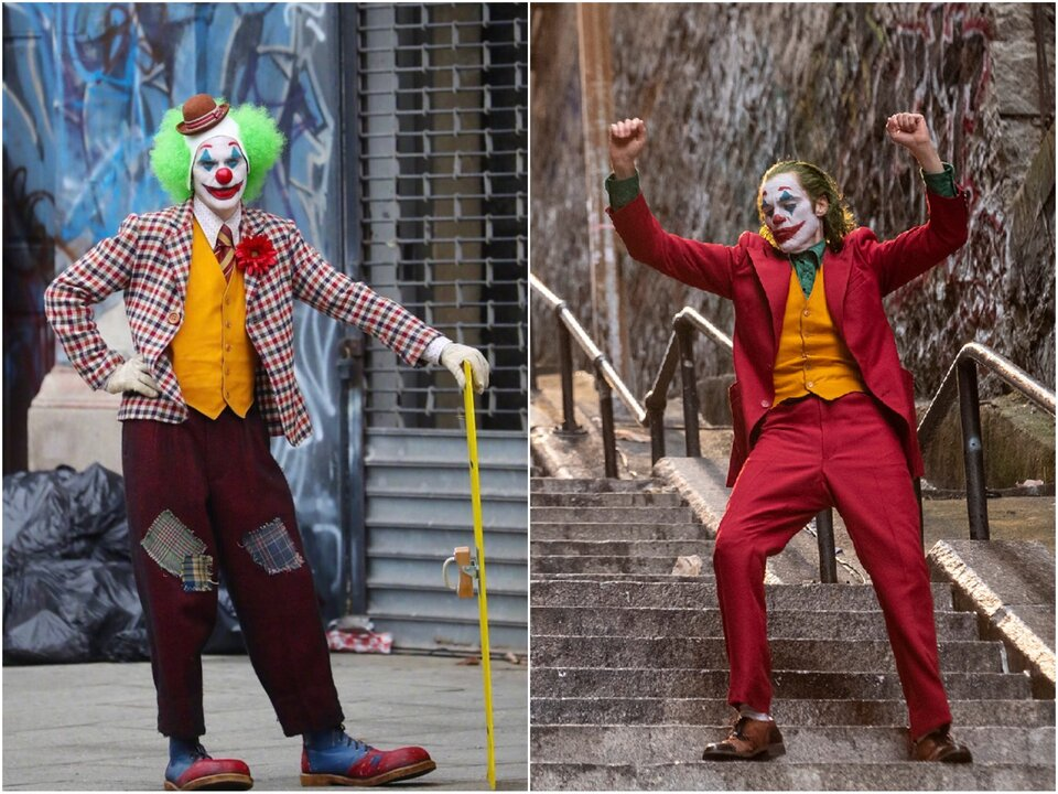 Хоакин Феникс в образе Артура Флека / Хоакин Феникс в образе Джокера