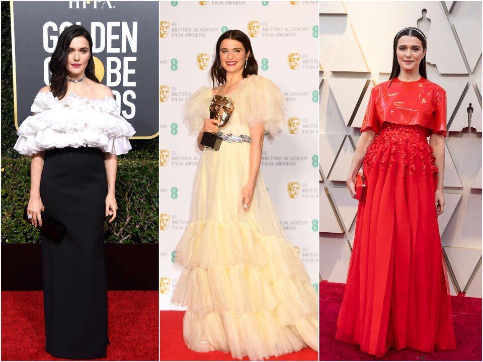 Рэйчел Вайс на «Золотом глобусе — 2019», на BAFTA-2019 и на «Оскаре-2019» / Фото: Getty Images, ©A.M.P.A.S.