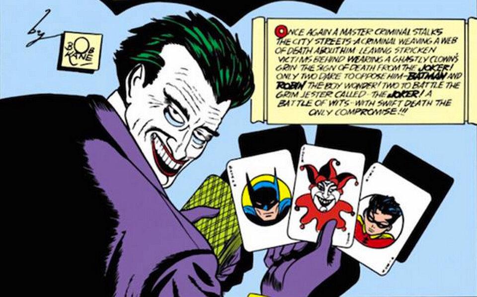 Первое появление Джокера в комиксе «Бэтмен», № 1, 1940
