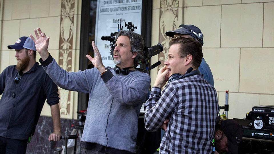 Питер Фаррелли на съемках фильма «Зеленая книга»