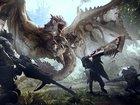 Кадр из фильма «Охотник на монстров»: Милла Йовович бежит вперед