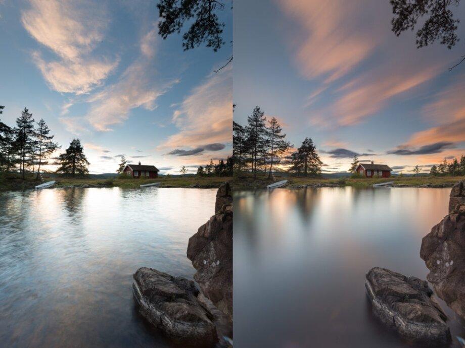 качество фото до и после оранжевого светофильтра иерархии