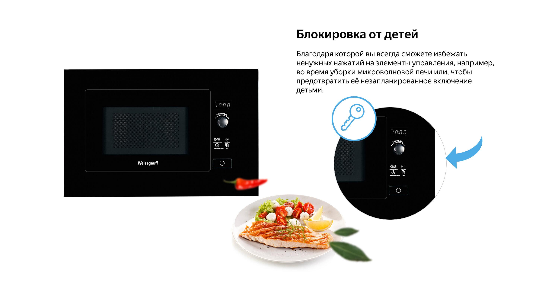 встраиваемая микроволновая печь без гриля