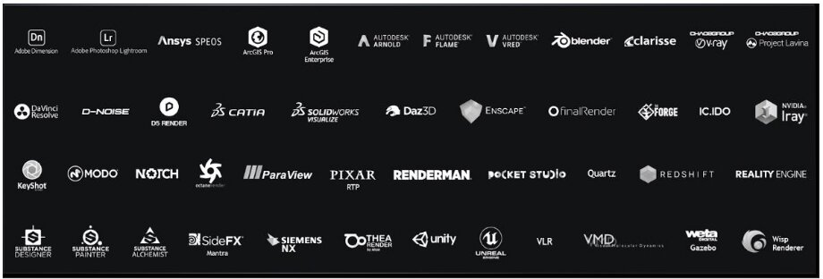 More than 45 professional applications accelerate with GeForce RTX graphics cards: you can work with graphics and even accelerate artificial intelligence algorithms