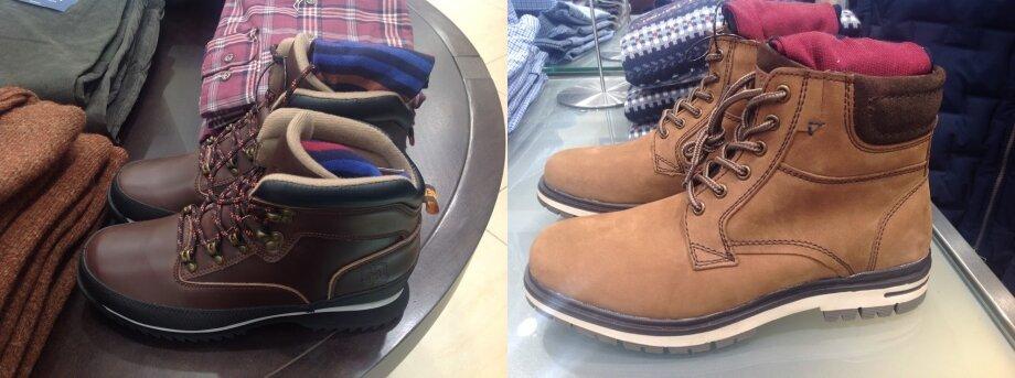 Чаще всего модели высоких ботинок для городских прогулок ипутешествий делают иззернистой кожи или синтетических материалов. Синтетика непропускает воду, улучшает качество обуви ивместе стем делает еёдешевле