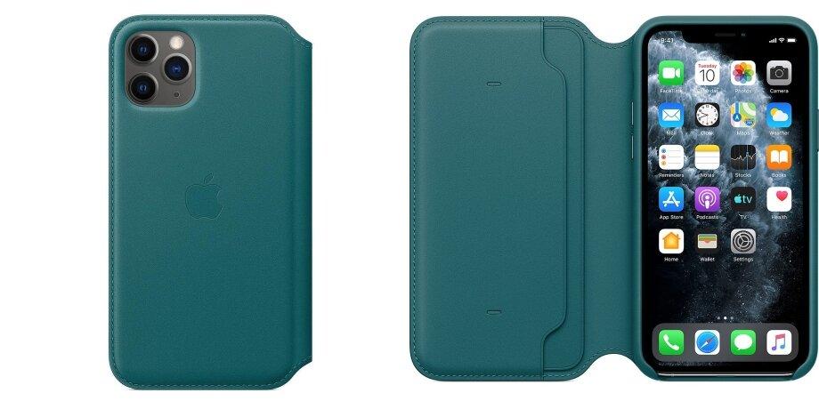 УApple есть оригинальный чехол для iPhone 11 Pro сослотами для карт. Если аксессуар закрыть, онпереведёт смартфон врежимсна