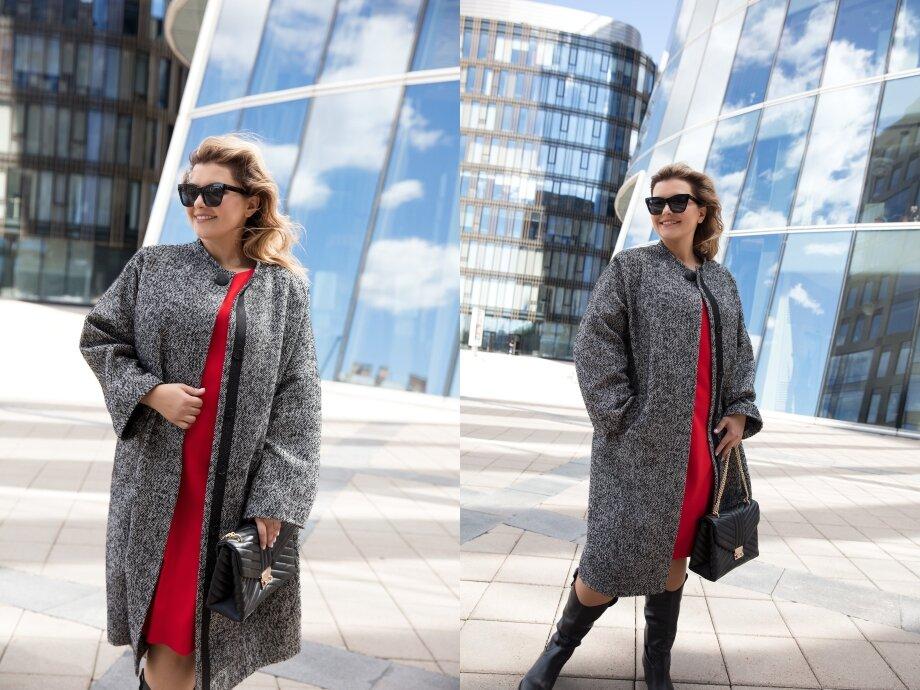 Пальто серого оттенка— универсальный выбор. Ссерым хорошо смотрится любой цвет изяркой палитры