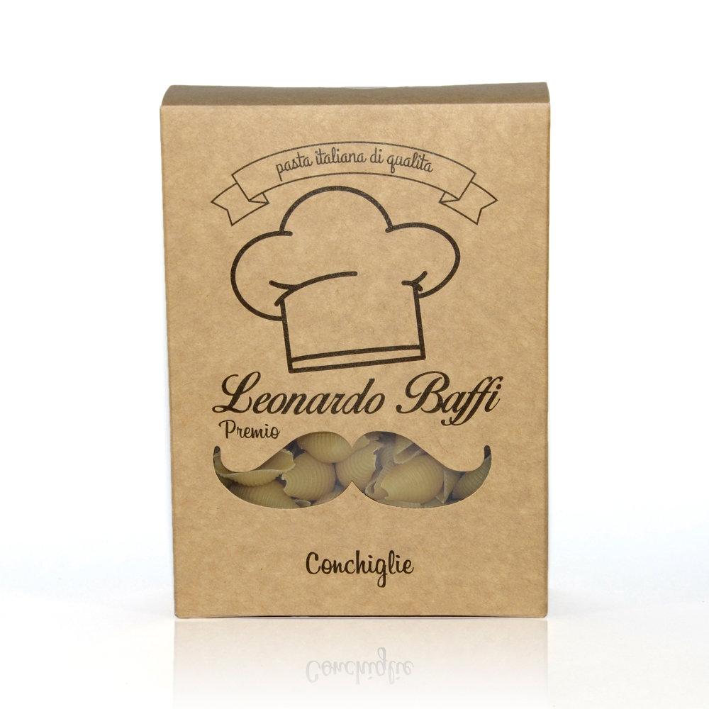 Макароны с чесноком и имбирем, Premio ракушки - Leonardo Baffi