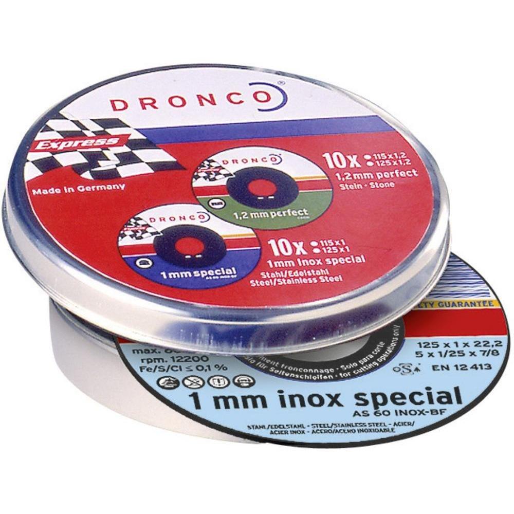 Отрезной диск по металлу Evolution AS60V, Т41,125x1x22,23 BOX (25 шт в жестяной коробке) Dronco