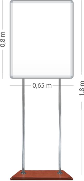 Магнитный стенд напольный 0,65x0.8 м. |Престиж| ИП Севостьянов Магнитный стенд напольный 0,65x0.8 м. |Престиж|