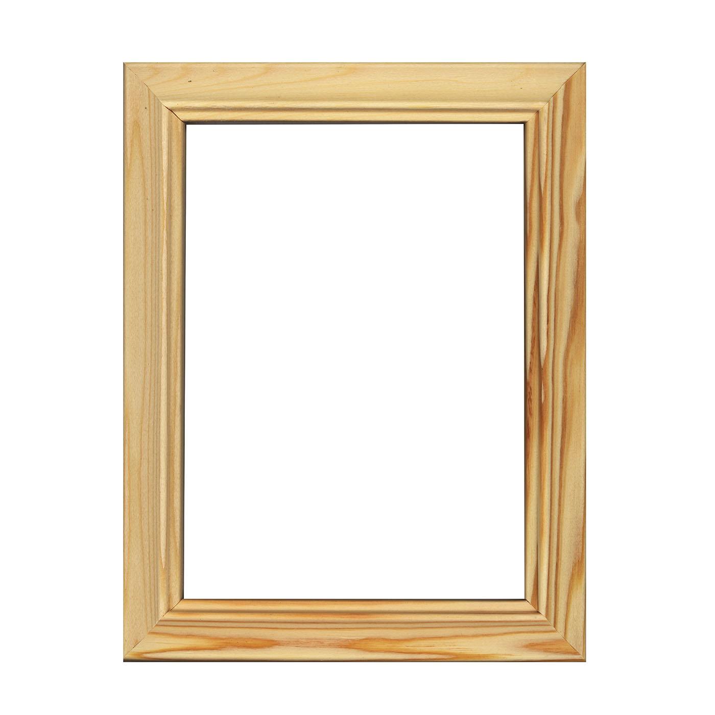 Рамы без стекла Метрика ООО Рама без стекла 30х30см, серия С2 ЛОЛИТА, сосна неокрашенная, профиль прямой
