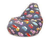 Superpuff Кресло мешок XXL Mini Cooper Мягкое кресло (внешний чехол+внутренний чехол с гранулами)