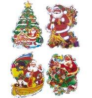 Наклейка-панно WINTER WINGS Дед Мороз 4 шт 32 x 18 см