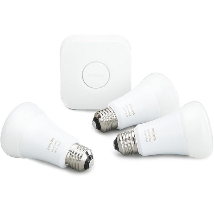 Комплект умных ламп Philips Hue White and Color Ambiance E27 Starter Kit с маршрутизатором