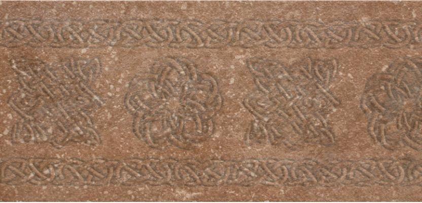 Клинкерная плитка Exagres Stone Brown декор-подступенник 15х33