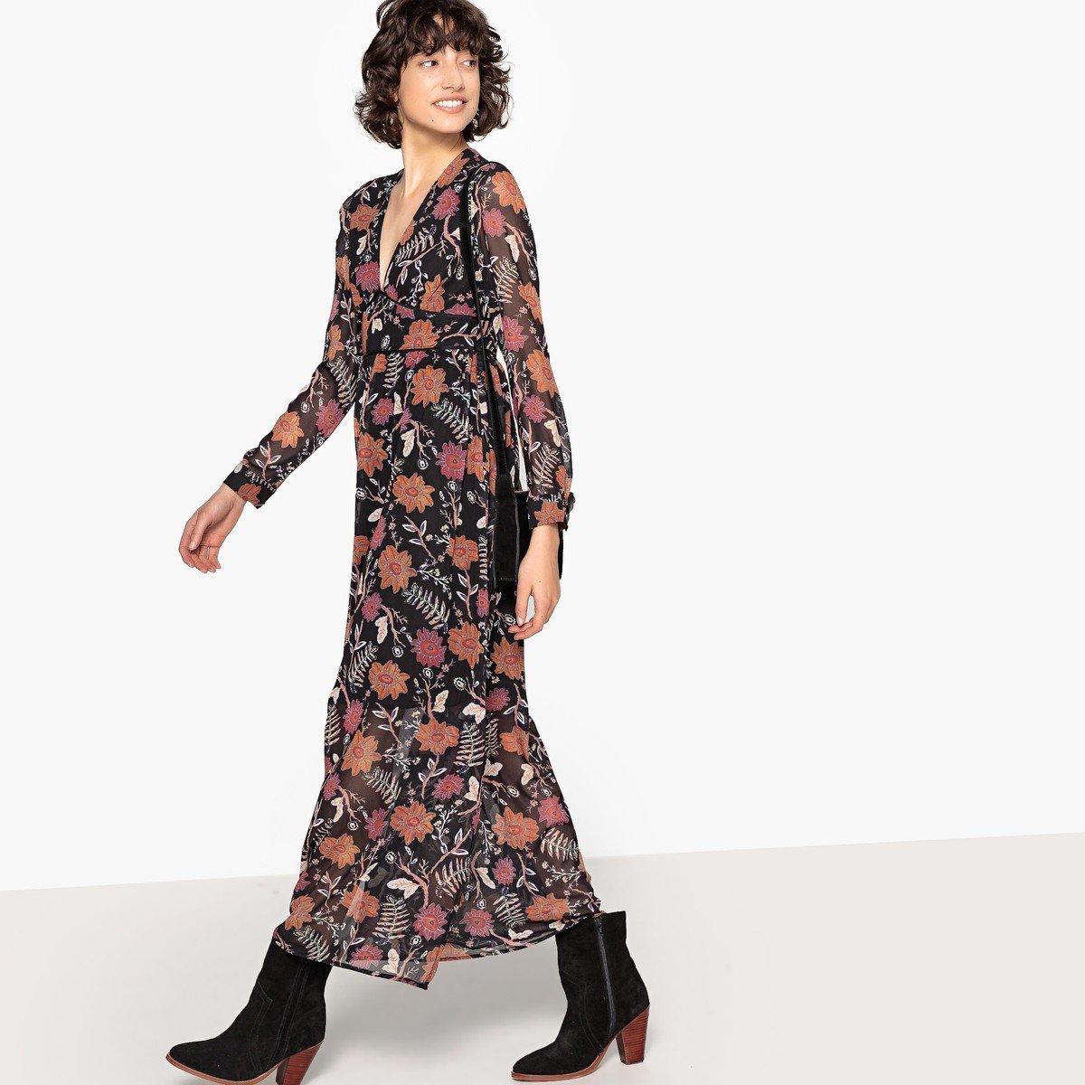59d8087211d Длинные платья в мелкий цветочек купить в интернет магазине 👍