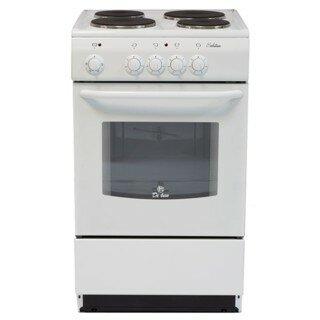 Электрическая плита De Luxe 5004.12э (белая) (без щитка и крышки)