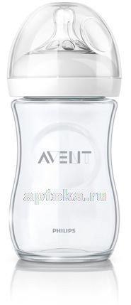 Avent natural бутылочка для кормления 240мл стекло арт. 81420 scf673/17