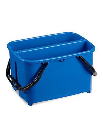 Ведро пластиковое для мытья окон 2 секции 2*10л ACG синее, ударопрочное