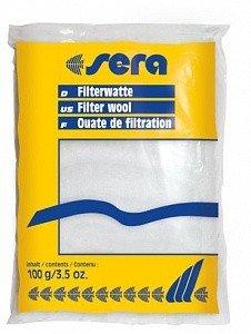 """Фильтрующая вата для пресноводных и морских аквариумов Sera """"Filter Wool"""", 100 г"""