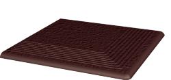 Клинкерная плитка Paradyz Natural Brown Duro ступень угловая 300x300 рельефная
