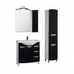 Комплект мебели Aquanet Асти 85 черный
