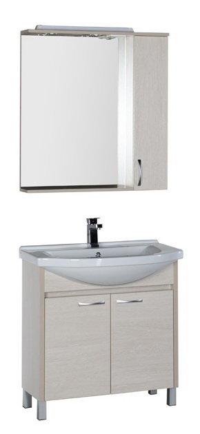 """Мебель для ванной Aquanet Донна 80 (цвет """"белый дуб"""")"""