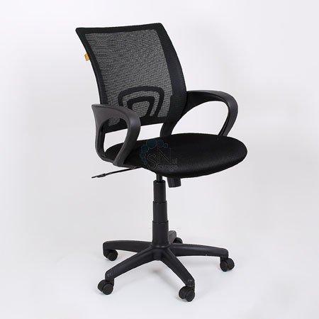 Кресло операторское CH-696 черное, спинка черная сетка DW62/TW-01