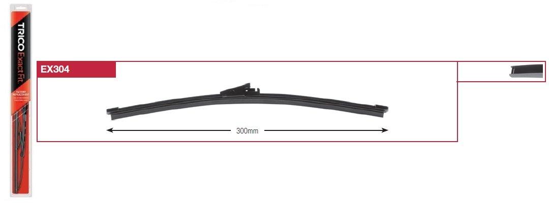 Щетка стеклоочистителя задняя TRICO Fit EX304 / 300мм