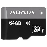 Карта памяти ADATA microSDXC 64GB Premier Class 10 UHS-I U1 + ADP (40/15 Mb/s)
