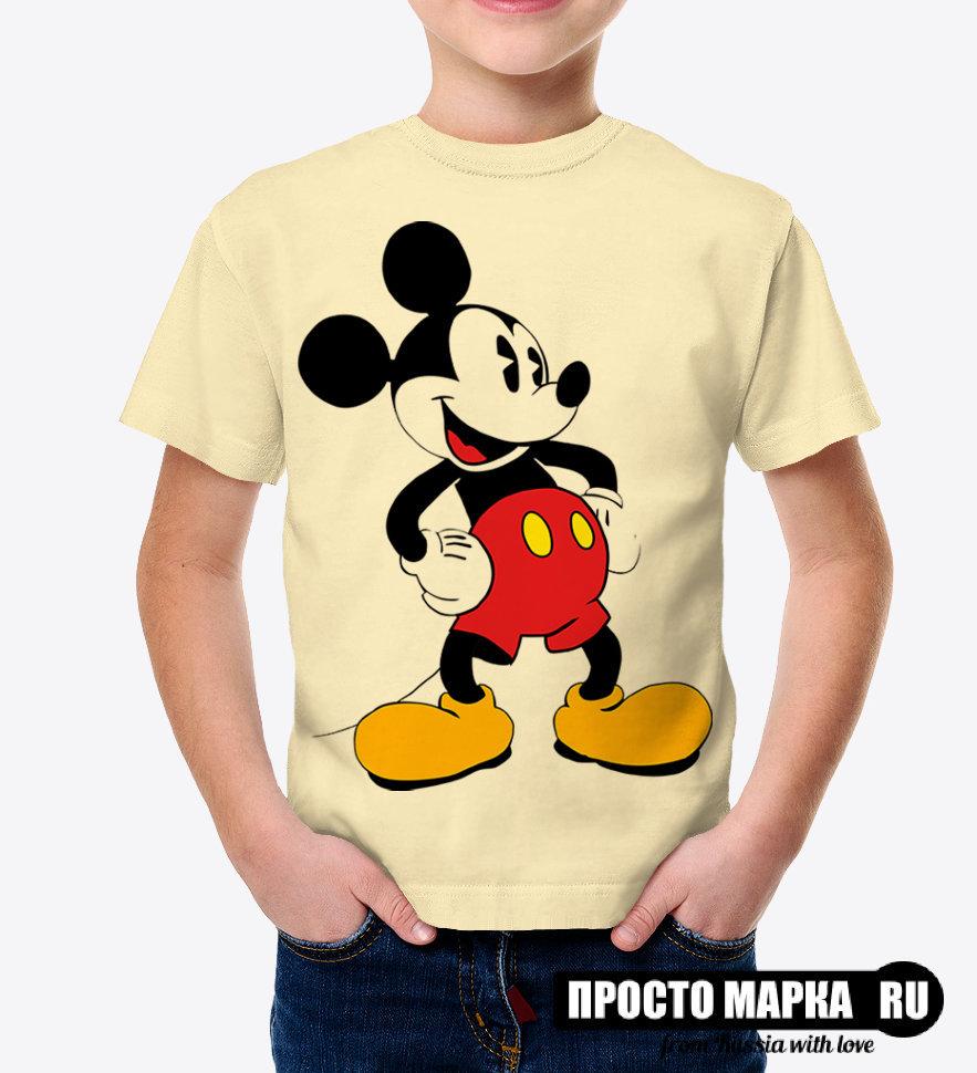 ea8f9cb0df717 Детская футболка с Микки Маус old style (Бежевый цвет)