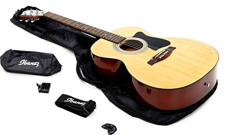 IBANEZ VC50NJP-NT, набор из акустической гитары Grand Concert, тюнера, чехла и аксессуаров