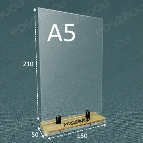 "Подставка для меню ""Тейбл тент"" на держателях А5 вертикально"