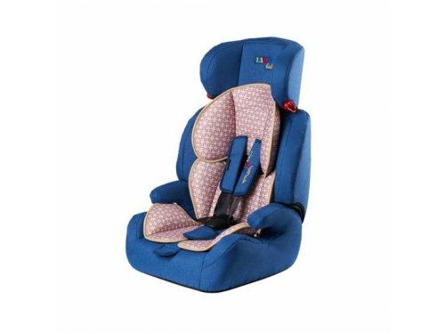 Автокресло детское Liko-Baby 515 B 1-2-3 (9-36 кг), синее/лен