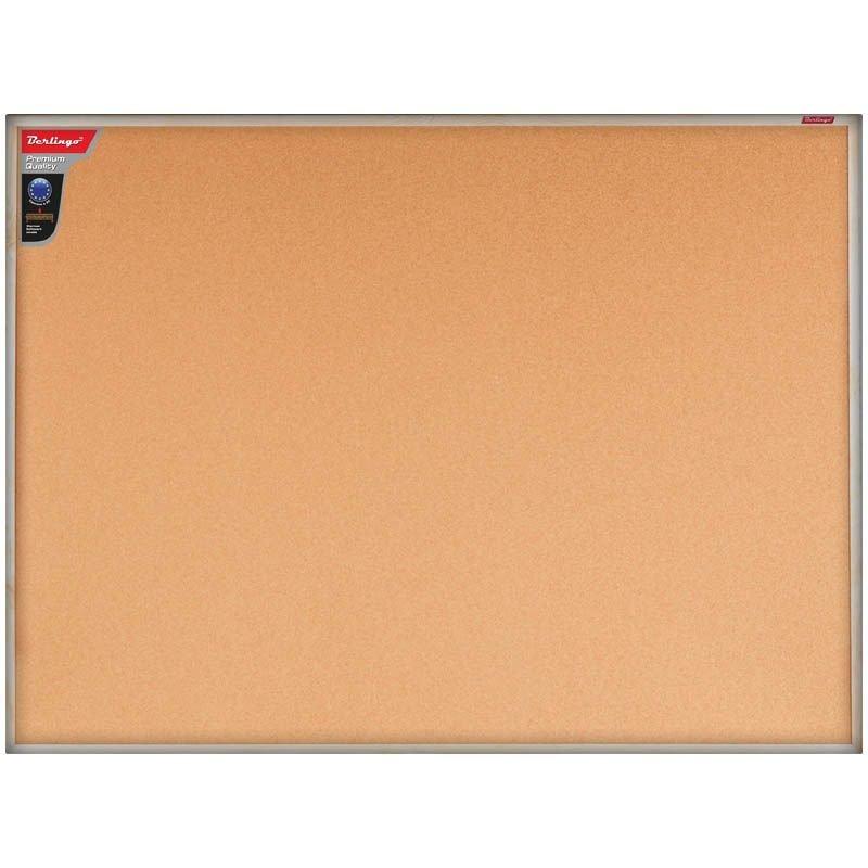 Доска пробковая BERLINGO 90x120 см Premium, деревянная рама