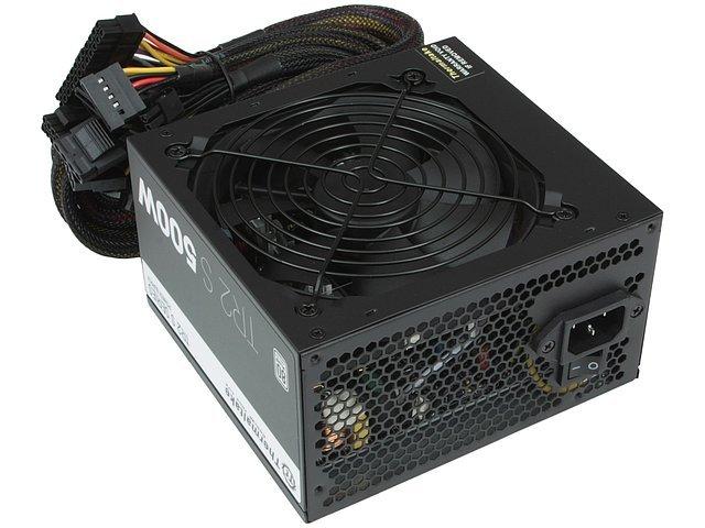 Блок питания 500Вт Thermaltake TR2 S 500W TRS-0500P-2 ATX12V V2.3 (20/24+4/8+6/8pin, вентилятор d120мм) + кабель питания EURO (1.5м)