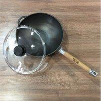 Сковорода-вок со стеклянной крышкой, 24 см